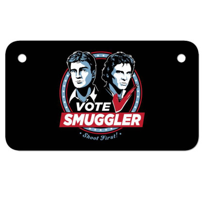 Vote Smuggler Motorcycle License Plate Designed By Lotus Fashion Realm