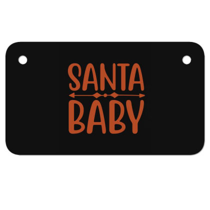 Santa Baby Motorcycle License Plate Designed By Gnuh79