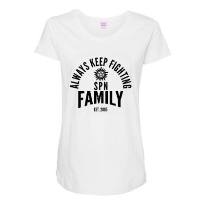 Always Keep Fighting Maternity Scoop Neck T-shirt Designed By Owen