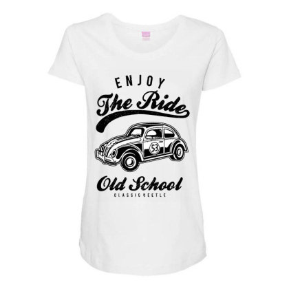 Enjoy The Ride Maternity Scoop Neck T-shirt Designed By Alaska Tees