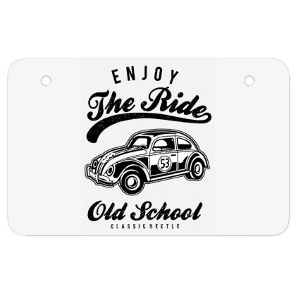 Enjoy The Ride Atv License Plate Designed By Alaska Tees