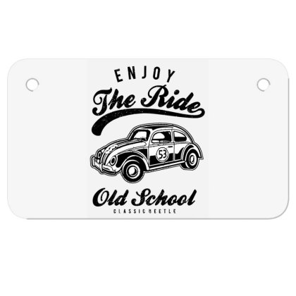 Enjoy The Ride Motorcycle License Plate Designed By Alaska Tees