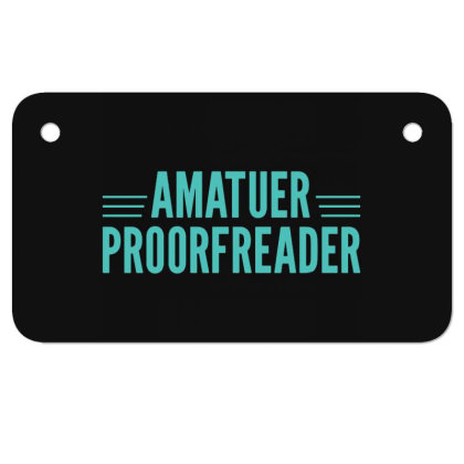 Amatuer Proorfeader Motorcycle License Plate Designed By Owen