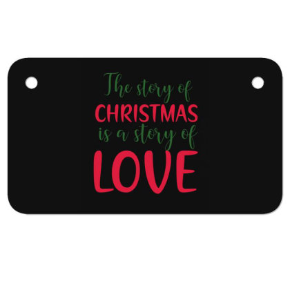 The Story Of Christmas Motorcycle License Plate Designed By Gnuh79
