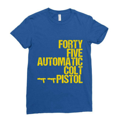 Forty Five Automatic Colt Pistol Ladies Fitted T-shirt Designed By Sugarmoon