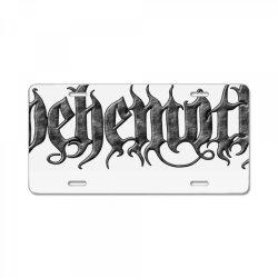behemoth monster art License Plate   Artistshot
