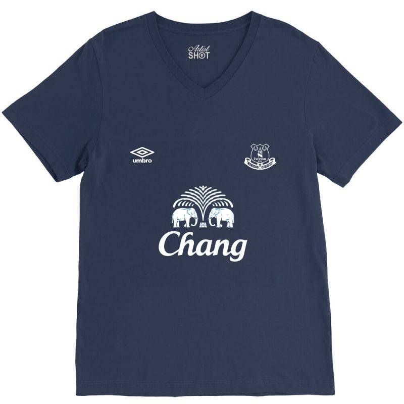 Everton Jersey V-neck Tee   Artistshot