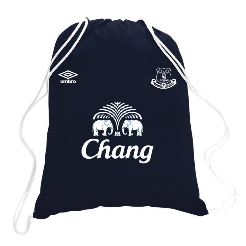 Everton Jersey Drawstring Bags | Artistshot