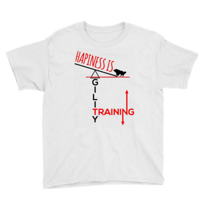Agility Dog Youth Tee Designed By Realme Tees