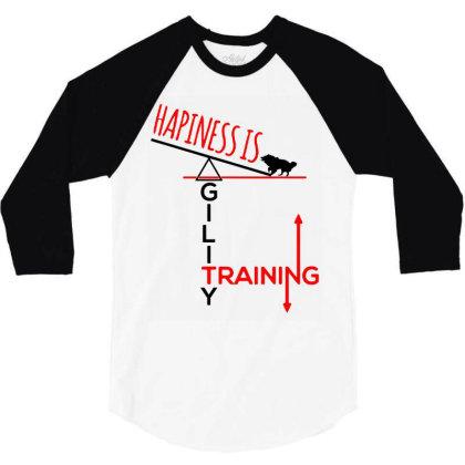 Agility Dog 3/4 Sleeve Shirt Designed By Realme Tees