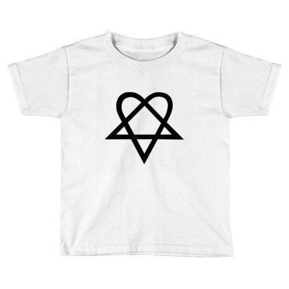 Him Heartagram Metal Music Logo Toddler T-shirt Designed By Şen