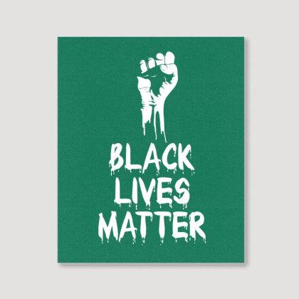 Black Lives Matter Portrait Canvas Print Designed By Tshiart