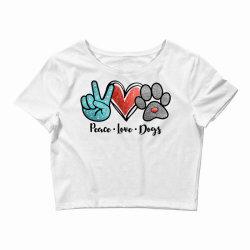 peace love dogs Crop Top | Artistshot
