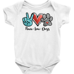 Peace Love Dogs Baby Bodysuit Designed By Cosby