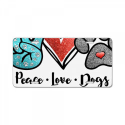 peace love dogs License Plate | Artistshot