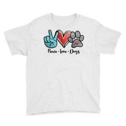 peace love dogs Youth Tee | Artistshot