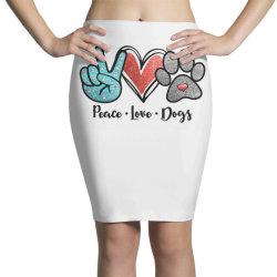 peace love dogs Pencil Skirts | Artistshot
