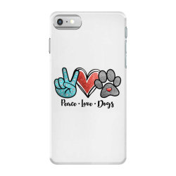 peace love dogs iPhone 7 Case | Artistshot