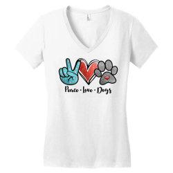 peace love dogs Women's V-Neck T-Shirt | Artistshot