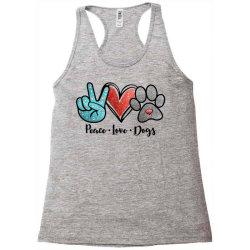 peace love dogs Racerback Tank | Artistshot