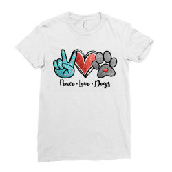 peace love dogs Ladies Fitted T-Shirt | Artistshot