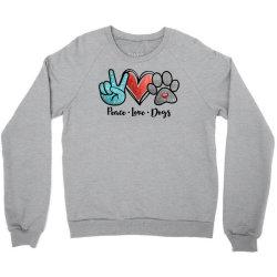 peace love dogs Crewneck Sweatshirt | Artistshot