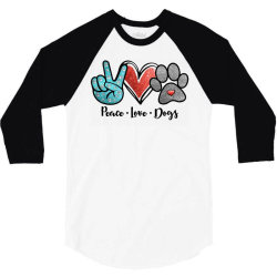 peace love dogs 3/4 Sleeve Shirt | Artistshot