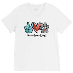 peace love dogs V-Neck Tee | Artistshot
