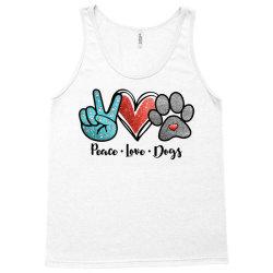 peace love dogs Tank Top | Artistshot