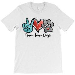 peace love dogs T-Shirt | Artistshot