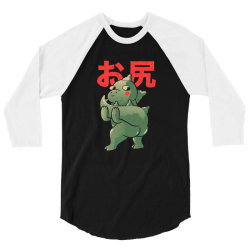 ButtZilla Cute Funny Monster Gift 3/4 Sleeve Shirt | Artistshot