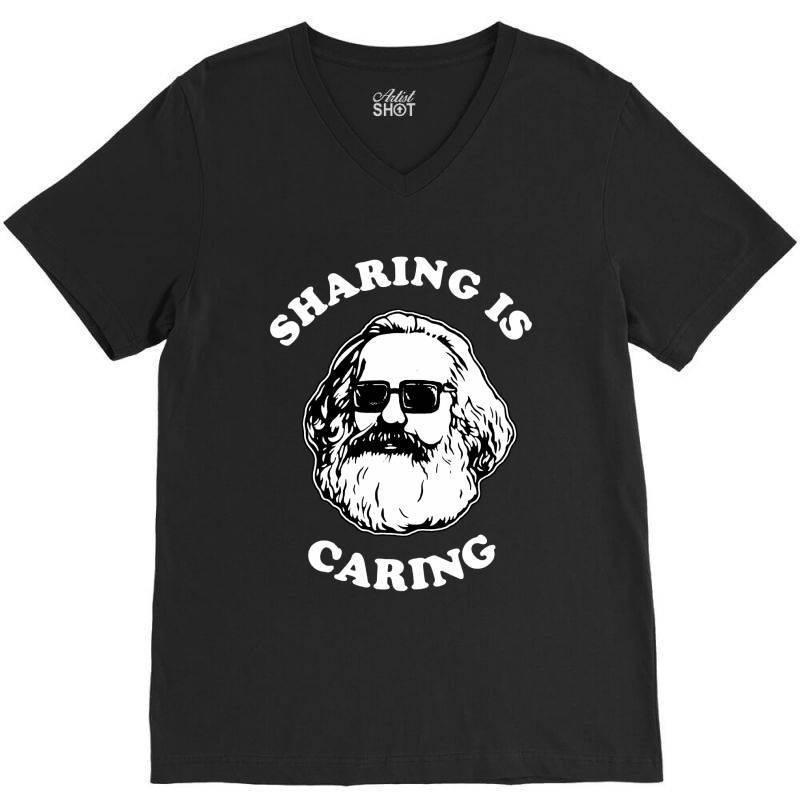 Sharing Is Caring V-neck Tee   Artistshot