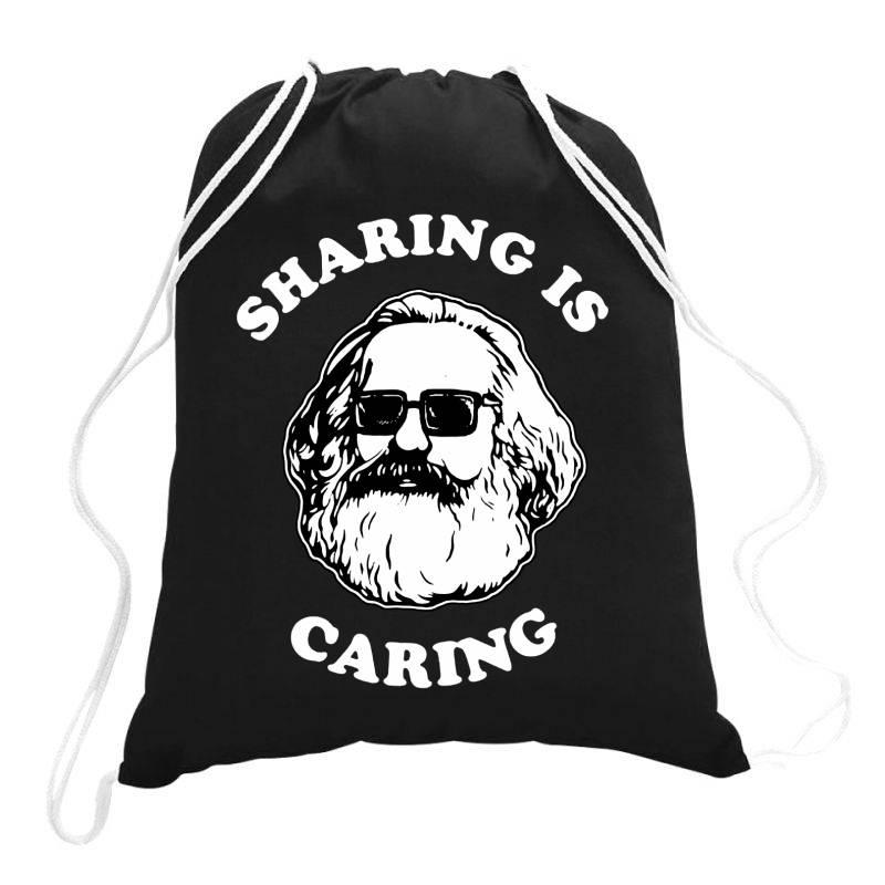 Sharing Is Caring Drawstring Bags | Artistshot