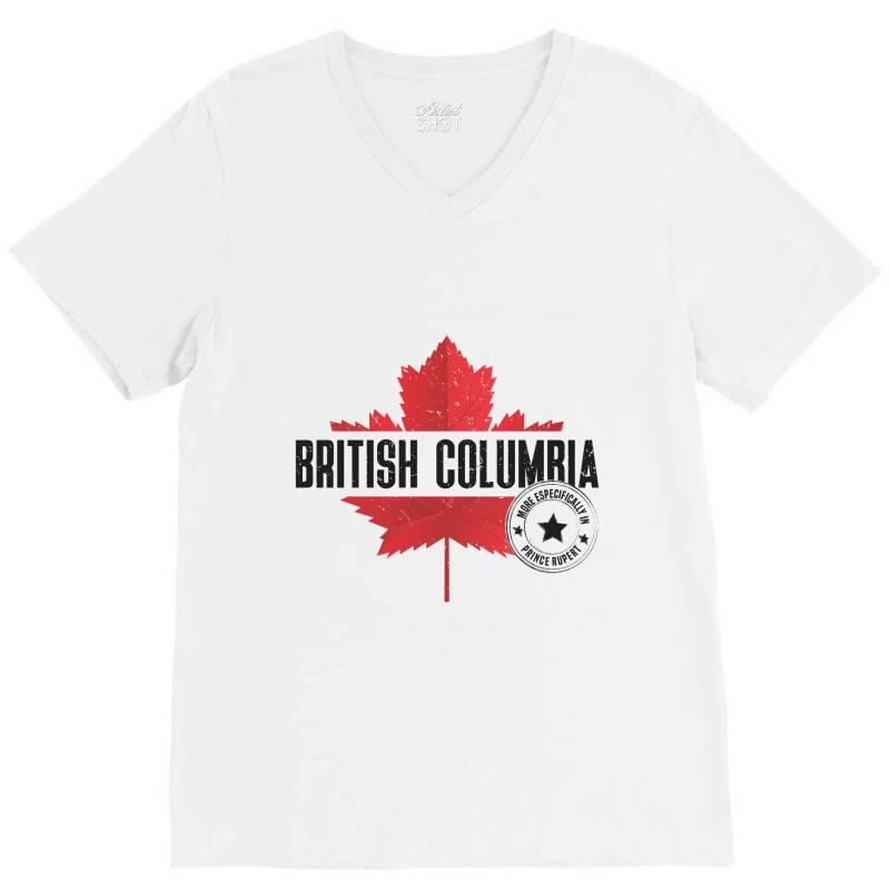 British Columbia - Prince Rupert V-neck Tee   Artistshot
