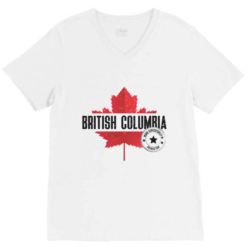 British Columbia - Princeton V-neck Tee | Artistshot
