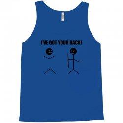 i've got your back t shirt tee funny novelty tee pun stick figure joke Tank Top | Artistshot
