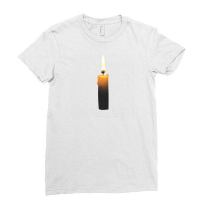 Romintic Candle T-shirts Ladies Fitted T-shirt Designed By Junaidk