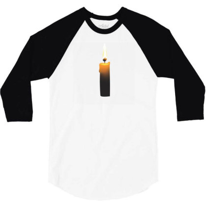 Romintic Candle T-shirts 3/4 Sleeve Shirt Designed By Junaidk