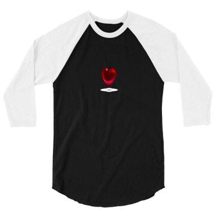 Romintic Heart T-shirts 3/4 Sleeve Shirt Designed By Junaidk