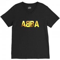 abba gold logo V-Neck Tee | Artistshot