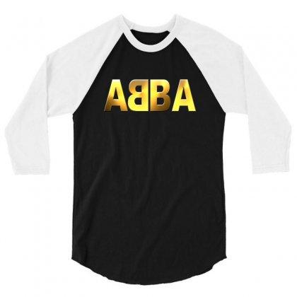 Abba Gold Logo 3/4 Sleeve Shirt Designed By Ysuryantini21