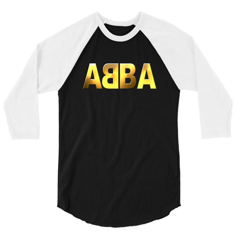 Abba Gold Logo 3/4 Sleeve Shirt | Artistshot