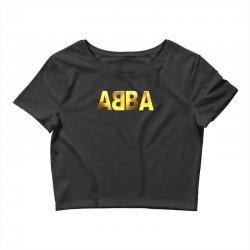 abba gold logo Crop Top | Artistshot