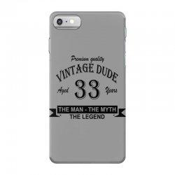 aged 33 years iPhone 7 Case | Artistshot