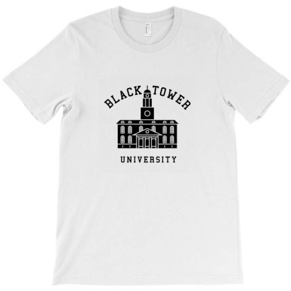 Black Tower University T-shirt Designed By Agus Loli