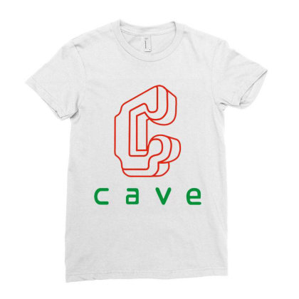 Cave Ladies Fitted T-shirt Designed By Best Seller Apparel