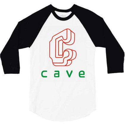 Cave 3/4 Sleeve Shirt Designed By Best Seller Apparel