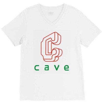 Cave V-neck Tee Designed By Best Seller Apparel