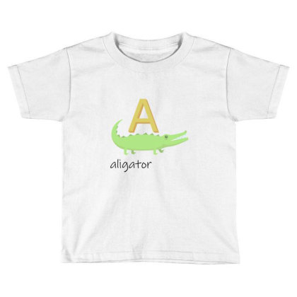 Aligator   Read Letters Tshirt 01 Toddler T-shirt Designed By Kroos-sell