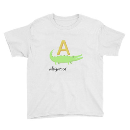 Aligator   Read Letters Tshirt 01 Youth Tee Designed By Kroos-sell